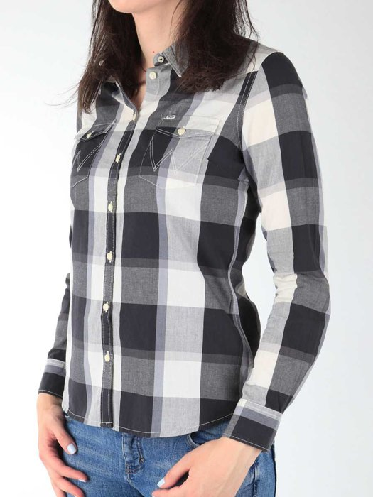 Damenhemd Wrangler L/S Western Shirt W50454MBU