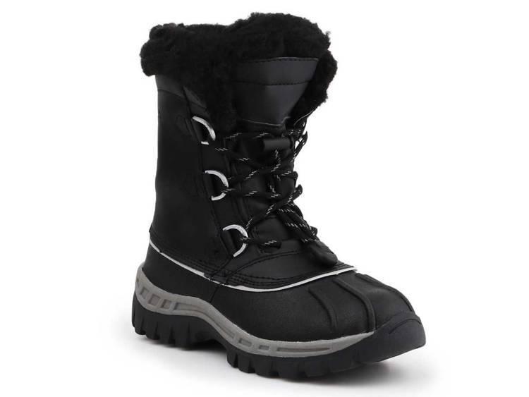 Zimowe buty dziecięce BearPaw 1871Y Black Grey
