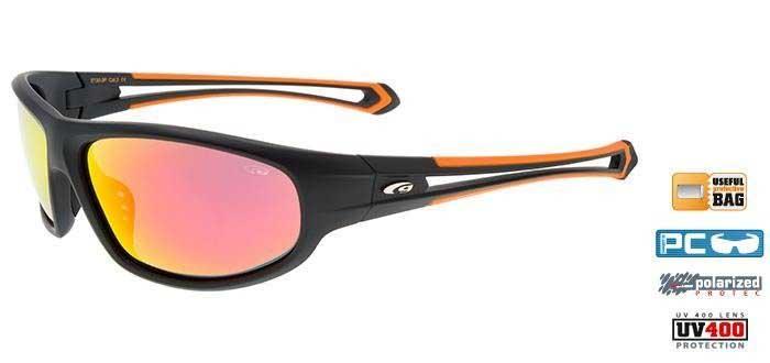 Goggle E130-3P matt black/orange
